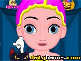 Baby Elsa Halloween Makeup