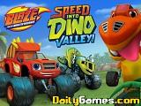 Blaze and the monster machines speed into dino valley