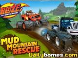 Blaze mud mountain rescue
