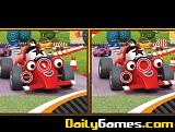 Cartoon racing car differences
