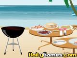 Cooking gyros on the beach