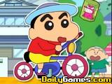 Crayon Shin Chan Rides Bike
