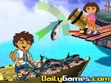 Dora And Diego Fishing
