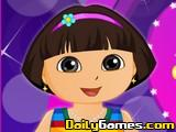 Dora at Valentine Party
