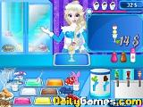Elsa frozen ice cream shop
