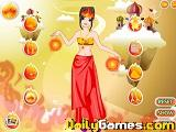 Fire princess dressup