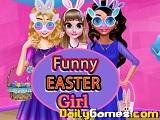 Funny easter girl