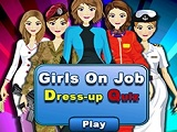 Girls on Job Dress Up Quiz