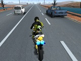 Highway traffic bike stunts 1