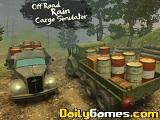Off road rain cargo simulator