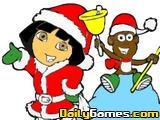 Dora Christmas Coloring