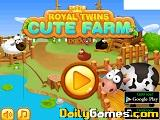 Royal twins cute farm