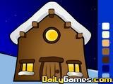 Santas House Coloring