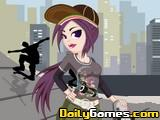 Skateboard Girl DressUp