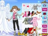 Snow angel girl dress up