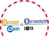 BITCOIN vs ETHEREUM DASH IOTA