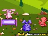Cute bunny farm