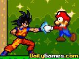 DBZ Goku vs Mario Bros