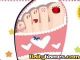 Pampering nail pedicure