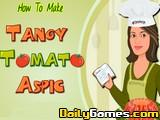 Tangy tomato aspic