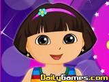 Dora at Valentine Party