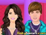Selena And Justin Kissing