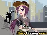 Skateboard Girl DressUp