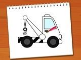 Coloring Book Excavator Trucks