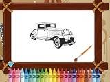 Retro Cars Coloring